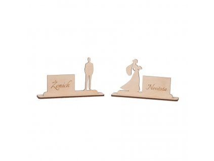 Drevené svadobné menovky II