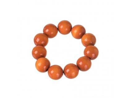 Drevený náramok - oranžový