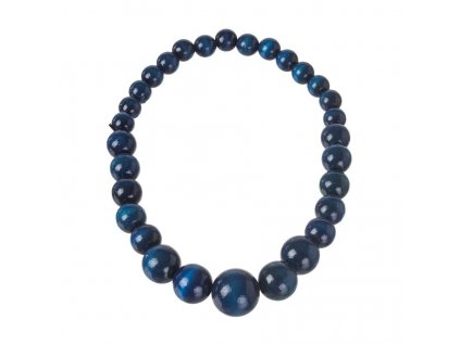 Drevený náhrdelník - modrý