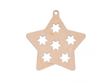 Drevená vianočná výzdoba - hviezda