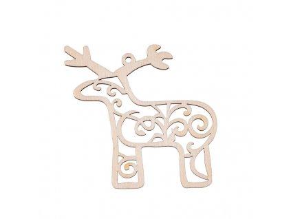 Drevená vianočná výzdoba - sob II