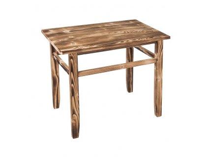 Opálený detský stolček so stoličkami