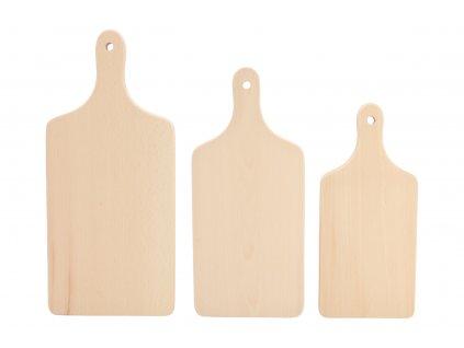 Súprava drevených dosiek s držadlom 3ks