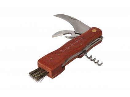 Hubársky nôž so štetcom