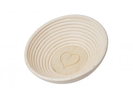 Ošatka ratan okrúhla pr. 21 cm - srdce