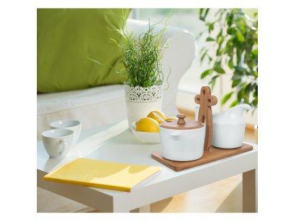 Konvička na mlieko + cukornička v stojane