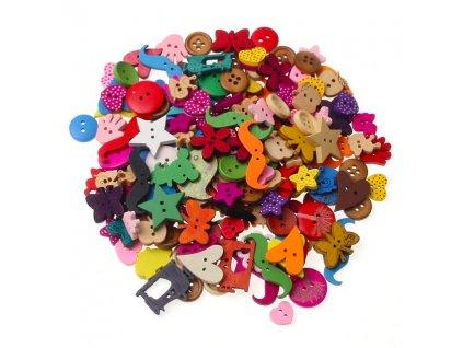 Drevené gombíky pre deti - 50 ks