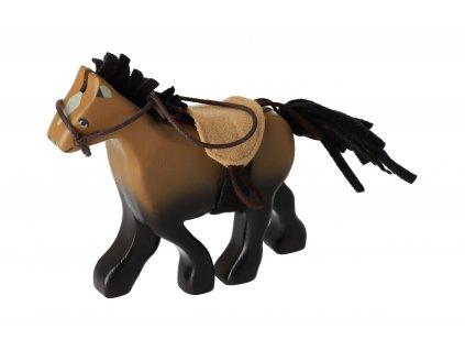 Drevený kôň hnedý