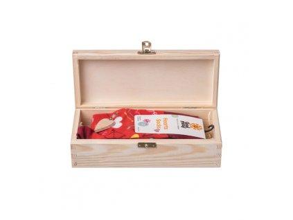Darčeková drevená krabička II