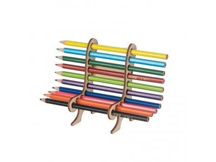 Drevená lavička na farbičky a perá
