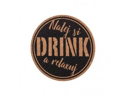 Korkový podtácok - nalej si drink a relaxuj