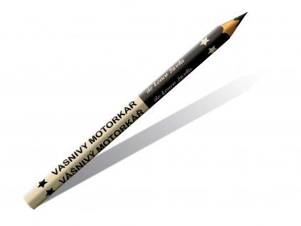 Drevené ceruzky vášnivý motorkár 2 ks