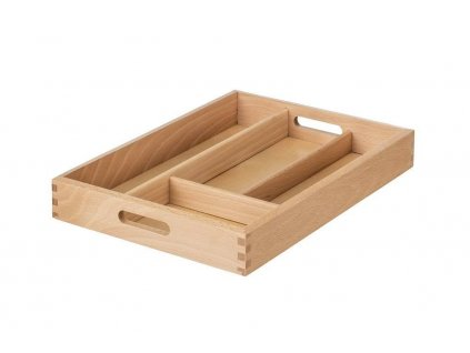 Zásobník na príbory drevený  34 x 25 x 5 cm