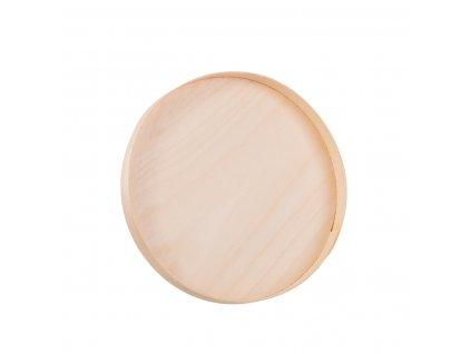 Dřevěný kulatý tácek z dýhy