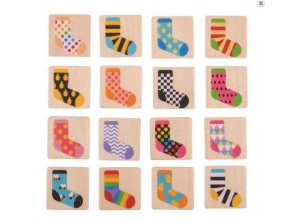 Drevené ponožkové pexeso