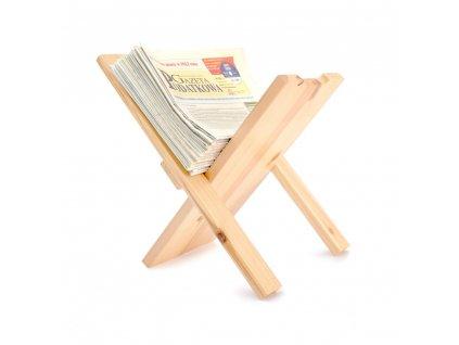Dřevěný stojan na noviny