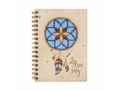 Dřevěný blok- Žij své sny