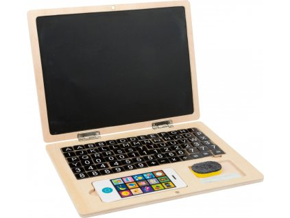 Drevený magnetický notebook