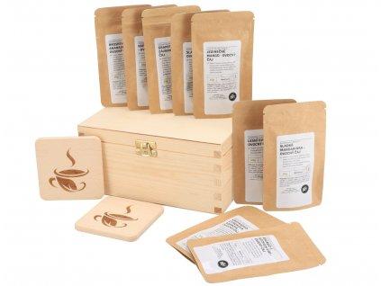 Darčeková drevená krabička - Čajové letné osvieženie