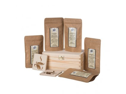 Dárková dřevěná krabička - Čajové letní osvežení