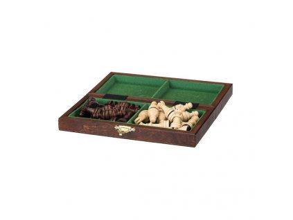 Malé magnetické drevené šachy