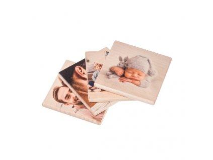 Drevené podložky s vlastnou fotkou 4 ks