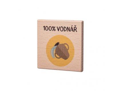 Drevený podtácok  - 100% Vodnář