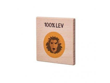 Drevený podtácok - 100% Lev