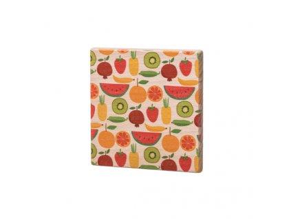 Drevený podtácok - Ovoce
