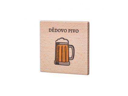 Drevený podtácok - Dědovo pivo