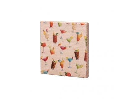 Drevený podtácok - Barevné drinky