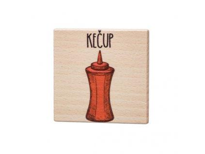 Drevený podtácok - Kečup