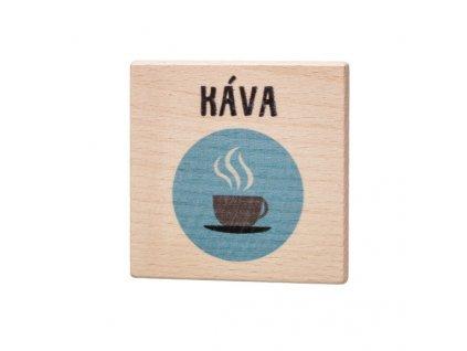 Drevený podtácok - Káva