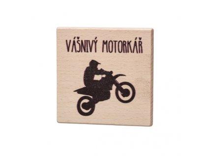 Drevený podtácok - Vášnivý motorkář