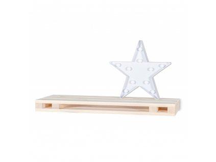 Drevená polička paleta - 60x23,5x5 cm
