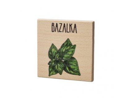 Dřevěný podtácek - Bazalka