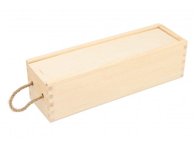Drevená truhlica na víno II