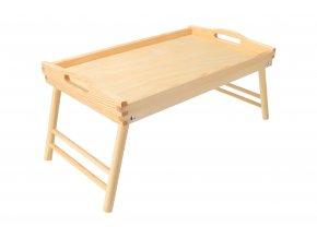 Drevený servírovací stolík do postele 50x30 cm