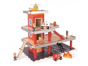 Drevená požiarna stanica a garáž - doplnky 10 ks