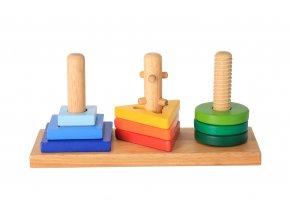 Dřevěná hračka - nasaď a otoč