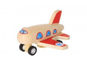 Dřevěné natahovací letadlo