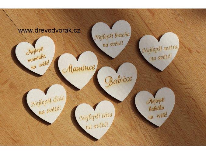 Magnetka - srdce s textem