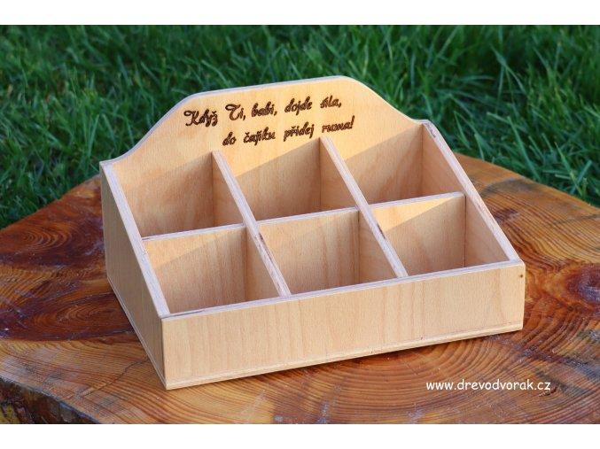 Krabička na čaje s textem