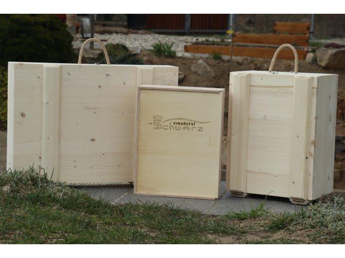 Dřevěné bedny na vína