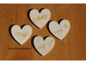 Přáníčka - srdce