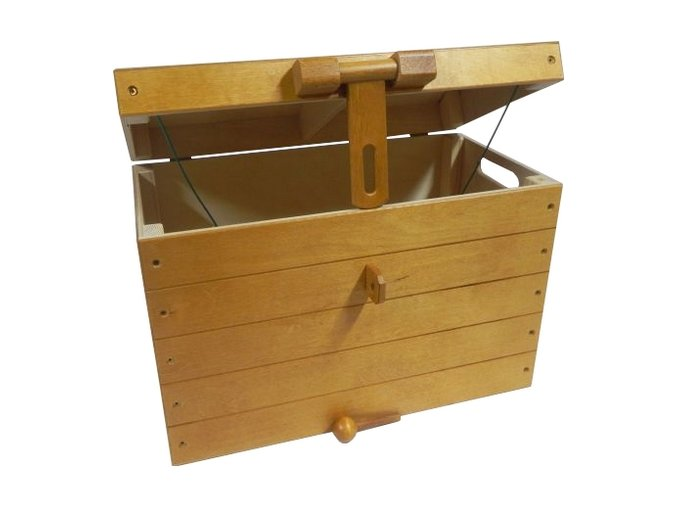 truhla na hračky pirátská medová velká 002