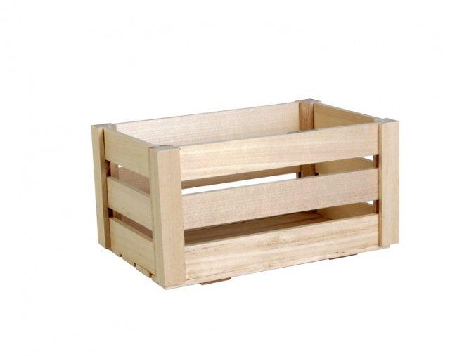 Dřevěná bedýnka malá 23,5cm