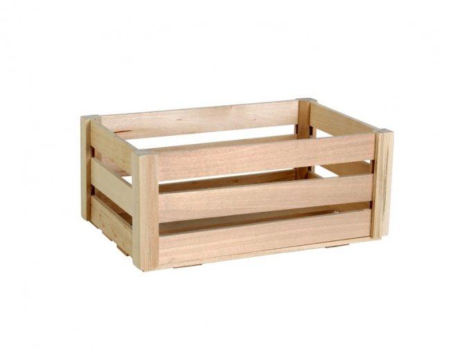 Dřevěná bedýnka střední 28,5cm