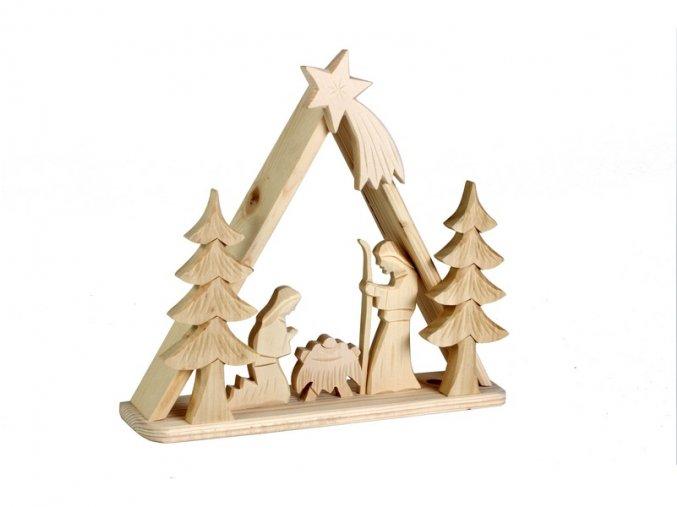 Dřevěný betlém - střední trojúhelníkový