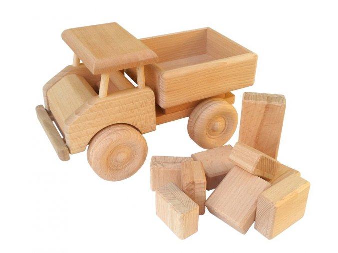 Dřevěné auto TATRA s kostkami